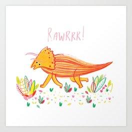 Colourful Dinosaur Art Print