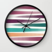 the strokes Wall Clocks featuring Brush strokes by eDrawings38