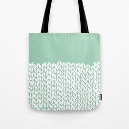 Half Knit Mint Tote Bag