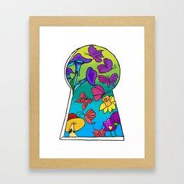 Keyhole to somewhere else Framed Art Print