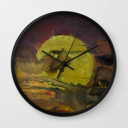 Industrial Sunset Wall Clock