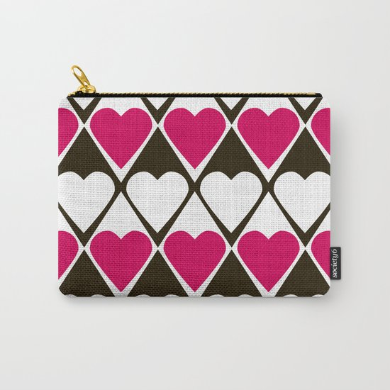 Abstract print with hearts Valentines Day love Carry-All Pouch