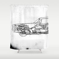 muscle Shower Curtains featuring Muscle Car by Fernando Vieira