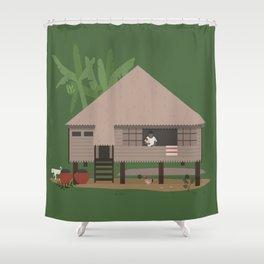 Bahay Kubo Shower Curtain