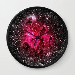 GalaXY : Pink Pillars of Creation Wall Clock