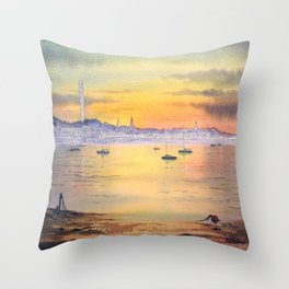 Impressions Of Provincetown Cape Cod USA Throw Pillow