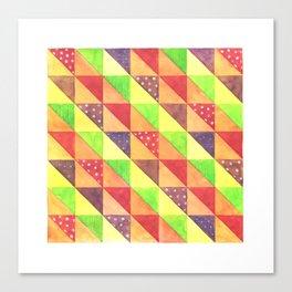 Modular grid of triangles Canvas Print
