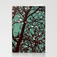 night Stationery Cards featuring Night Lights by elle moss