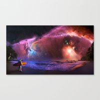 Space Surfer Canvas Print