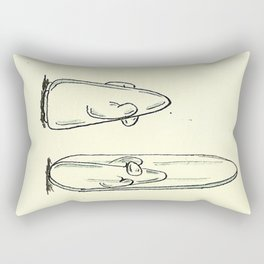 Silver Penguin Rectangular Pillow