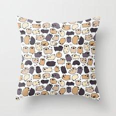 Pug Life Doodle Throw Pillow