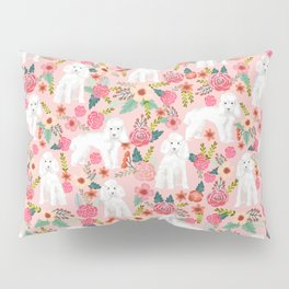 Toy Poodle pattern print by pet friendly pink florals dog with flower pattern cute toy poodles Pillow Sham