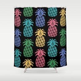 Retro Mid Century Modern Pineapple Pattern in Multi Colors 2 Shower Curtain