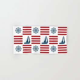 Nautical pattern Hand & Bath Towel