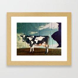 Surreal Bovine Atlas  Framed Art Print