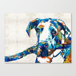 Great Dane Art - Stick With Me - By Sharon Cummings Canvas Print