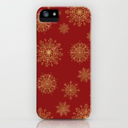 Assorted Golden Snowflakes iPhone Case