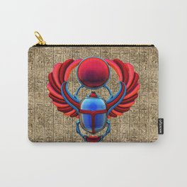 Colorful Egyptian Scarab Carry-All Pouch