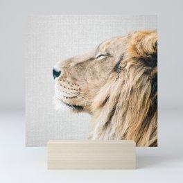 Lion Portrait - Colorful Mini Art Print