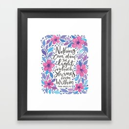Maya Angelou Watercolour Quote Framed Art Print