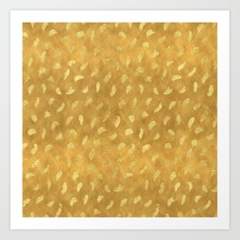 Pretty Gold Glam Abstract Art Print