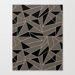 Geometric Abstract Origami Inspired Pattern Canvas Print