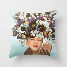 Floral Fashions III Throw Pillow