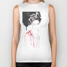 Watercolor illustrations Biker Tank