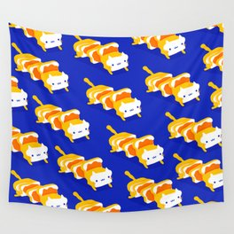 Toast Cat Wall Tapestry