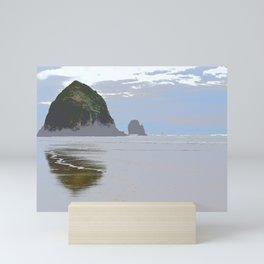 Illustrated Haystack Rock Mini Art Print