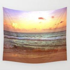 beacH Sunrise Sunset Wall Tapestry