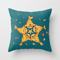 starfish Throw Pillows featuring StarFish by Lili Batista