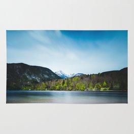 Lake Bohinj with Alps in Slovenia Rug