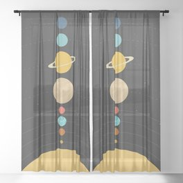 Solar System Sheer Curtain