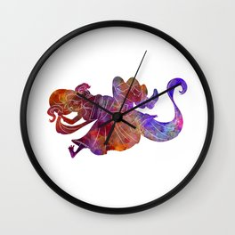 Rapunzel and partner 01 in watercolor Wall Clock