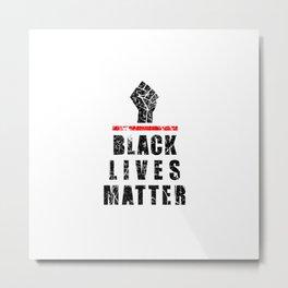 Vintage Black Lives Matter Support Metal Print