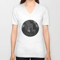 velvet underground V-neck T-shirts featuring Underground by samrosey