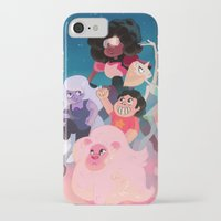 steven universe iPhone & iPod Cases featuring Steven Universe by Taylor Barron