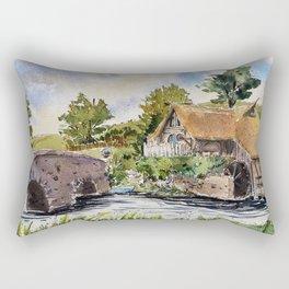 New Zealand, movie set   Watercolor Rectangular Pillow