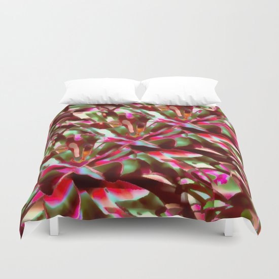 Bright And Cheerful Floral Garden Abstract Duvet Cover
