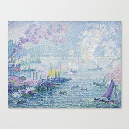 The Port of Rotterdam Canvas Print