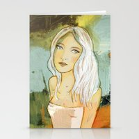 blondie Stationery Cards featuring blondie  by Agnes Laczo