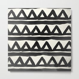 Chevron Tribal Metal Print