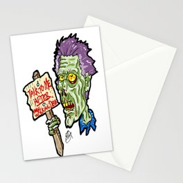 The Walking Dead Zombie... Don't DARE interrupt his Sunday Night viewing! Stationery Cards