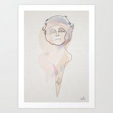 Oneline Liz Art Print