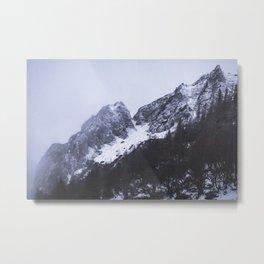 Slovenian Alps. || Mountain Landscape. || Snowy Tops. || Winter Time. || Travel Metal Print