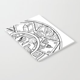 Pencil Wars Shield Notebook