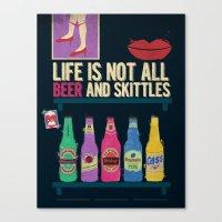 beer Canvas Prints featuring Beer by duckgooooooo