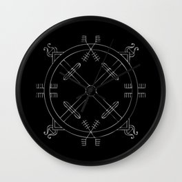 Shield of Terror Stave Wall Clock