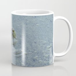 Frog in bluish water at Billy J. Frank Nisqually National Wildlife Refuge Coffee Mug